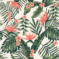 Peach Tropicana Canvas Wall Art