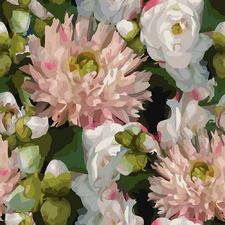 Midnight Blush Florals II Canvas Wall Art