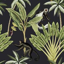 Midnight Monkey Business Canvas Wall Art