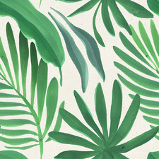 Green Fan Palm Leaves I Canvas Wall Art