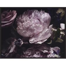 Purple Midnight Bloom Canvas Wall Art