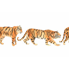 Tiger Walk Canvas Wall Art