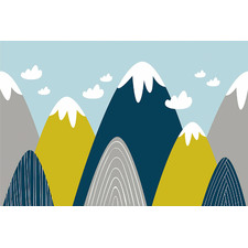 Snow Capped Mountains Canvas Wall Art