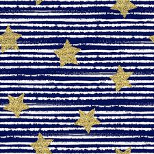 Navy Stripes & Stars Canvas Wall Art