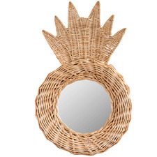 Pineapple Rattan Wall Mirror