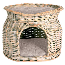 Cat Cave Rattan Pet Bed