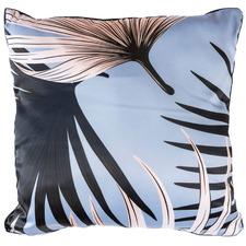 Blue Tropical Hui Square Cotton Cushion