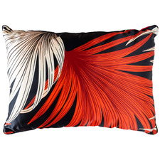 Red Tropical Hui Rectangular Cotton Cushion
