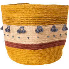 Mustard Mano Cotton Rope Basket