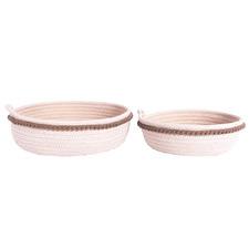 2 Piece Koi Cotton Rope Basket Set