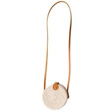 15cm Off-White Round Woven Seagrass Handbag