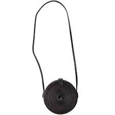 20cm Round Woven Seagrass Handbag