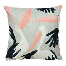 Printed Pelican Cotton Cushion