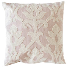 Embroidered Baroque Cotton Cushion