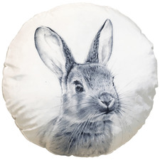 Monochrome Rabbit Cotton Cushion