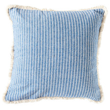 Fringed Stripe Holiday Home Cotton Cushion