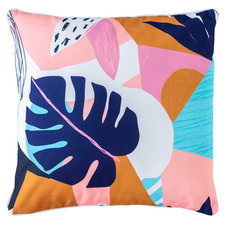 Bright Foliage Collage Outdoor Cushion