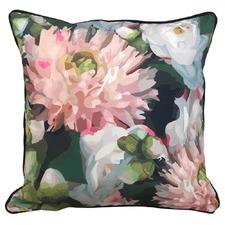 Midnight Floral Focus Outdoor Cushion