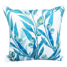 Printed Olive Branches Outdoor Cushion