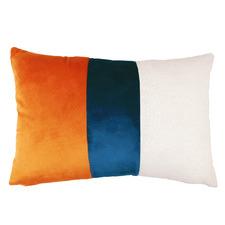 Tri-Colour Bella Velvet Cushion