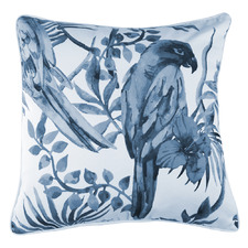 Grey Sitting Parrot Cotton Cushion