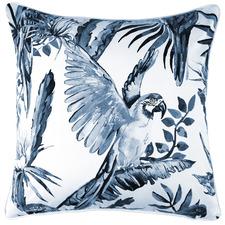 Grey Landing Parrot Cotton Cushion