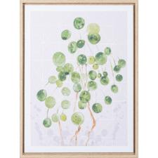 Finger Dot Foliage Framed Canvas Wall Art