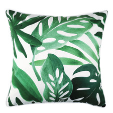 Tropical Monstera Foliage Cotton Cushion