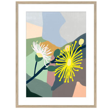 Plant Love Wattle Collage Framed Printed Wall Art