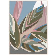 Pastel Fallen Leaves Framed Canvas Wall Art