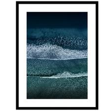 Tides In Birds Eye Waves Framed Printed Wall Art