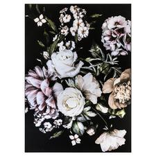 Dusty Blush Florals Framed Canvas Wall Art