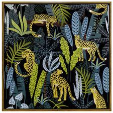 Jungle Life & Tigers Framed Canvas Wall Art