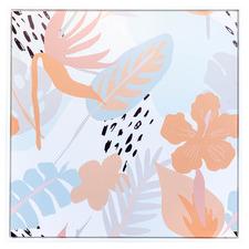 Pastel Jungle Framed Canvas Wall Art