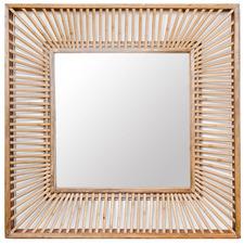 Natural Talia Square Wall Mirror