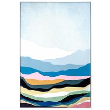 Rainbow Mountains Framed Canvas Wall Art