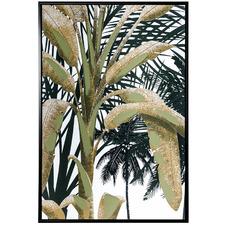 Banana Palm Tree Framed Canvas Wall Art