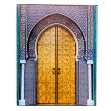 Golden Arch Doorway Framed Canvas Wall Art