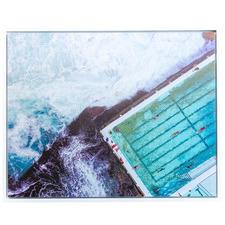 Bondi Bird's Eye Framed Canvas Wall Art