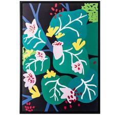 Succulent Jungle Forest Framed Canvas Wall Art