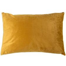 Solid Rectangular Velvet Cushion
