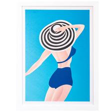 Jumping Into Summer Framed Canvas Wall Art