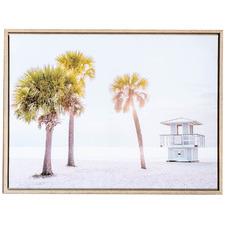 Lifesaving Summer Beach Framed Canvas Wall Art
