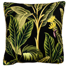 Black Banana Palm Outdoor Cushion