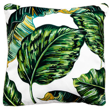 Tropical Leaves II Outdoor Cushion