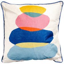 Stone Stack Artist Lab Cotton-Blend Cushion