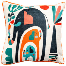 Elephants Artist Lab Cotton-Blend Cushion