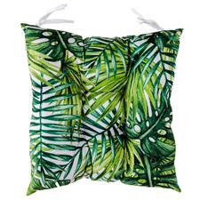 Palm Collage Green Outdoor Chair Pad