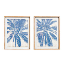 2 Piece Palm Molokai Framed Printed Wall Art Set
