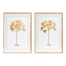 2 Piece Autumn Trees Framed Printed Wall Art Set